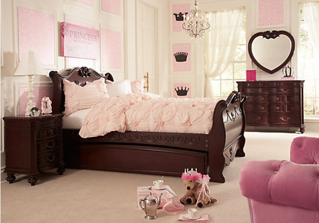 Image of: Disney Princess Bedroom Furniture Set