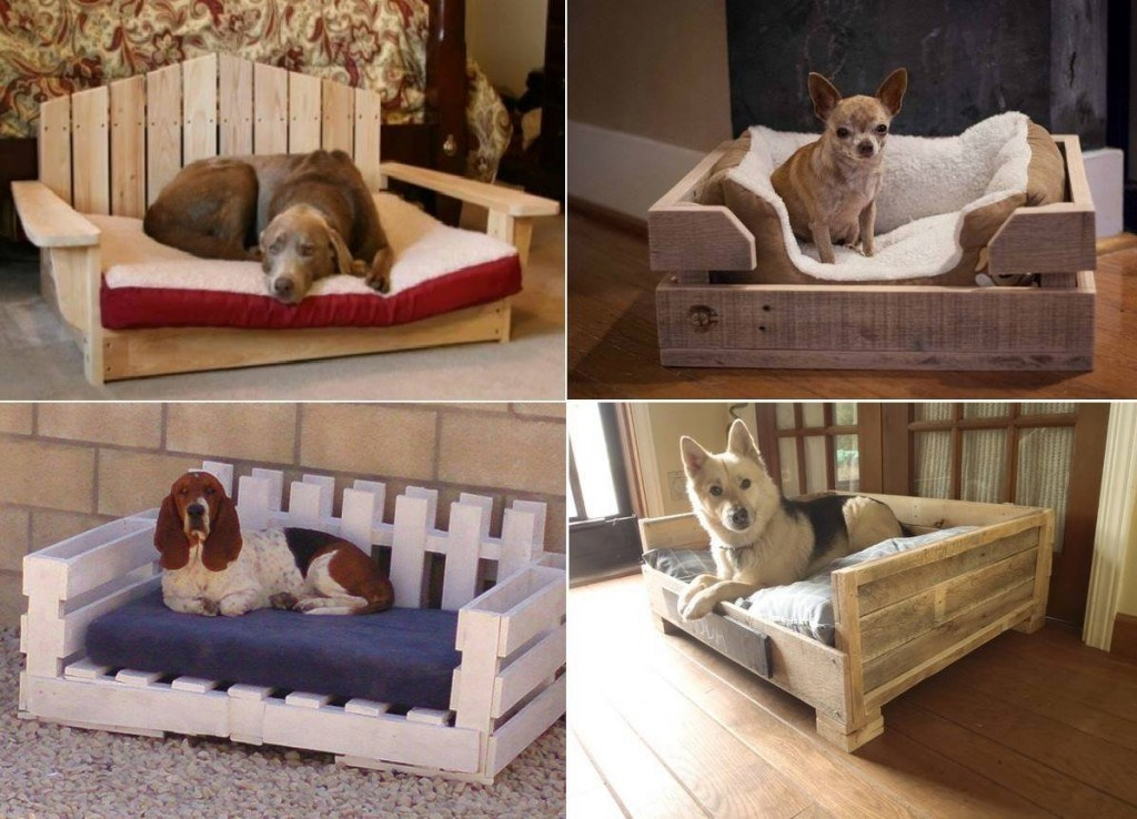 Image of: Dog Pallet Furniture Bed
