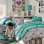 Girls Bedding Sets Twin Blue and Coral