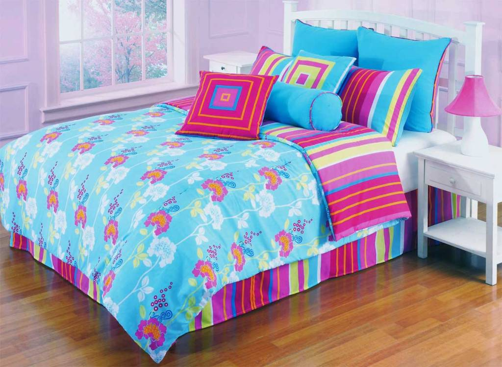 Image of: Girls Bedding Sets Twin Blue