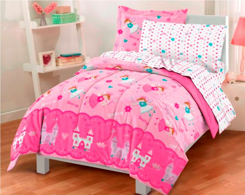 Image of: Girls Bedding Sets Twin In a Bag
