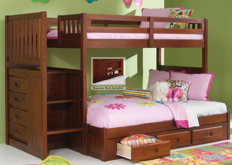 Image of: Girls Bunk Bed Twin Over Full