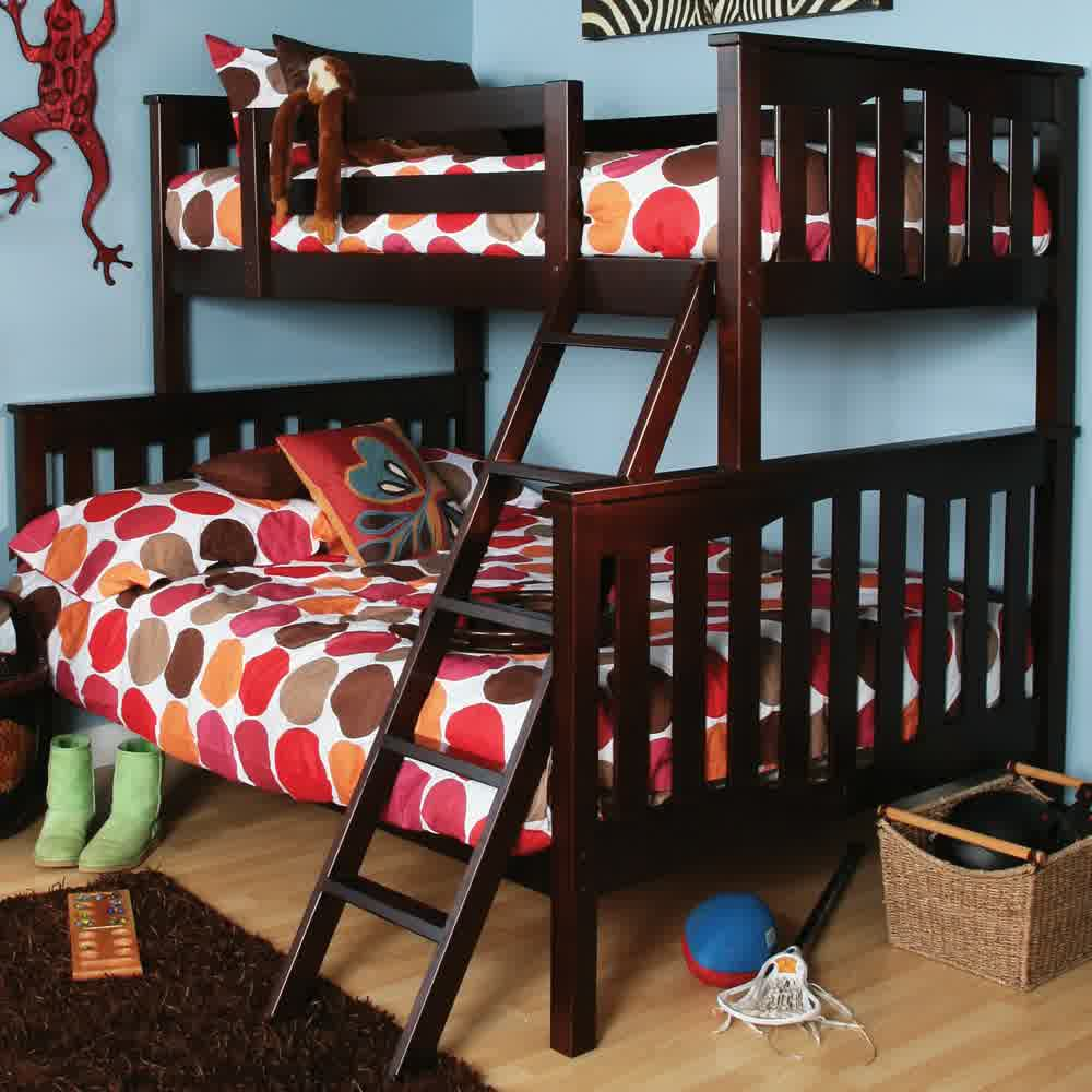 Image of: Installing Bunk Beds Twin Over Full