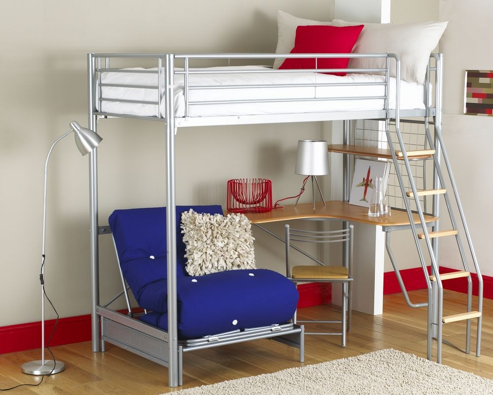 Image of: Interesting Loft Beds for Small Rooms