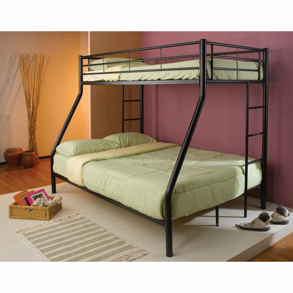 Image of: Iron Bunk Beds Twin Over Full