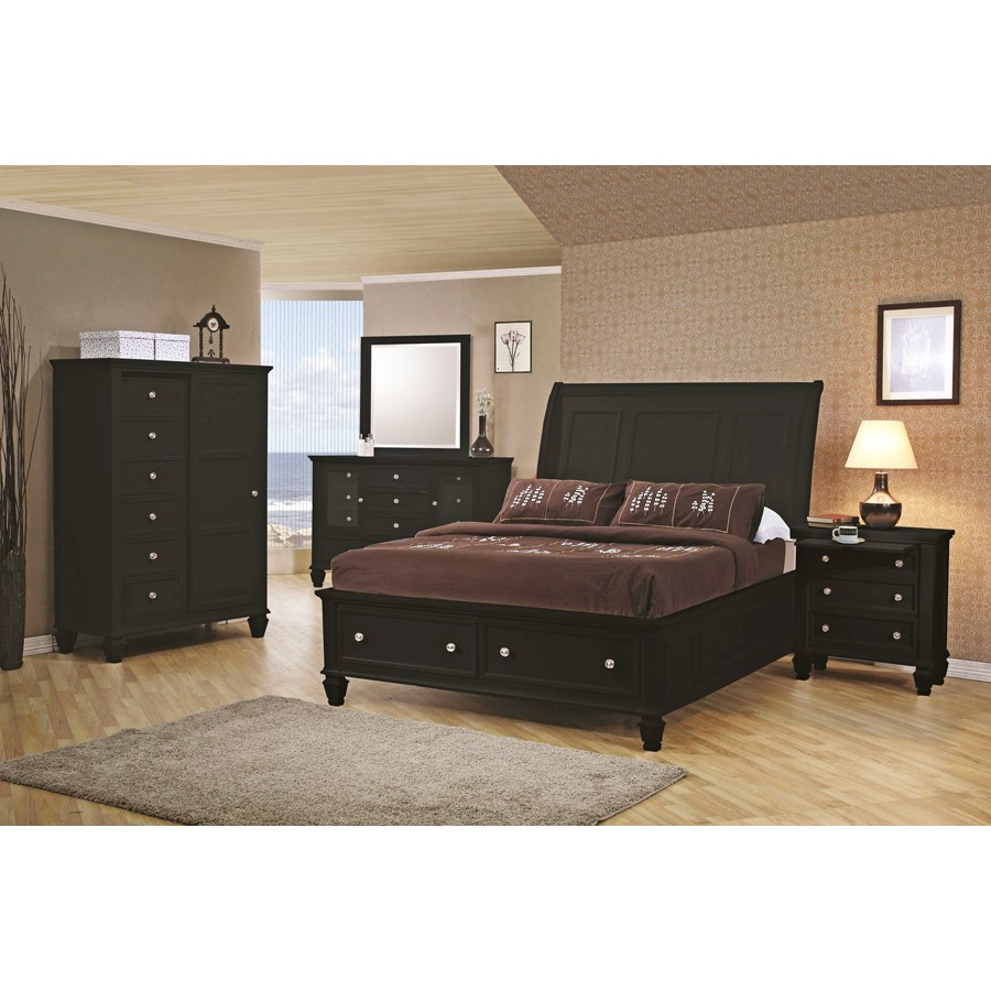 Image of: King Storage Bed Picture