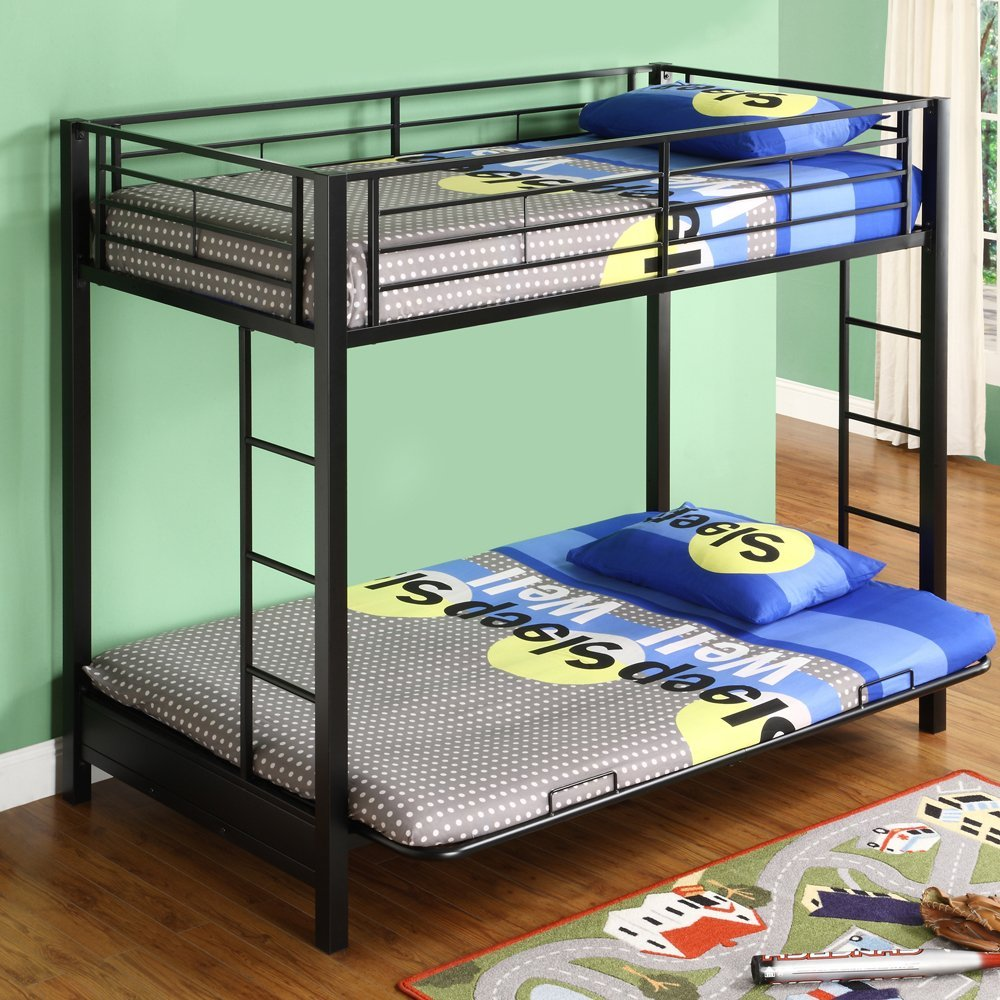 Image of: Large Couch to Bunk Bed