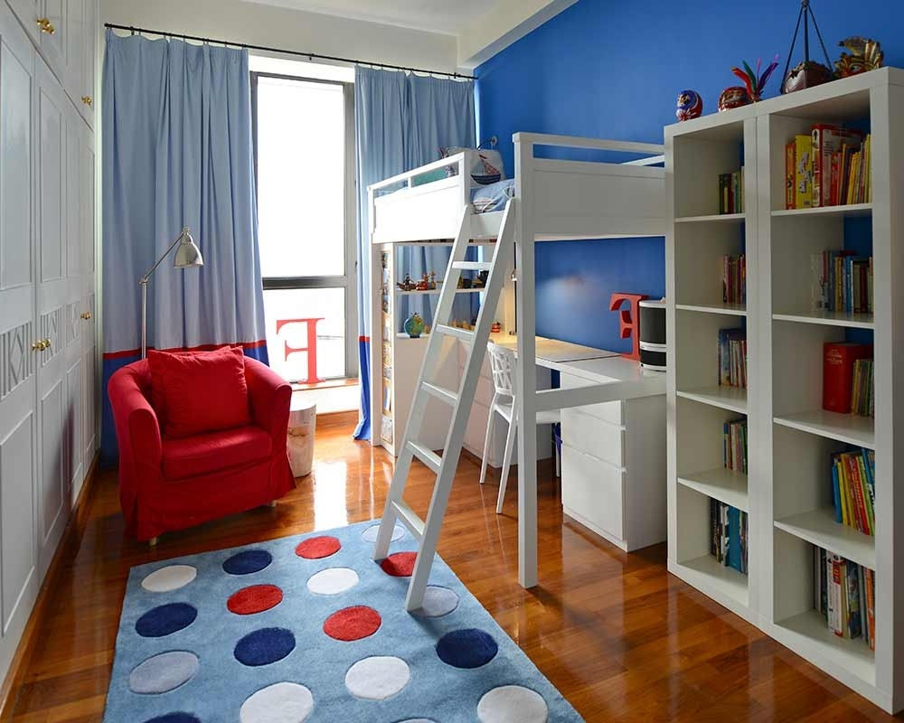 Image of: Loft Beds for Small Rooms Color