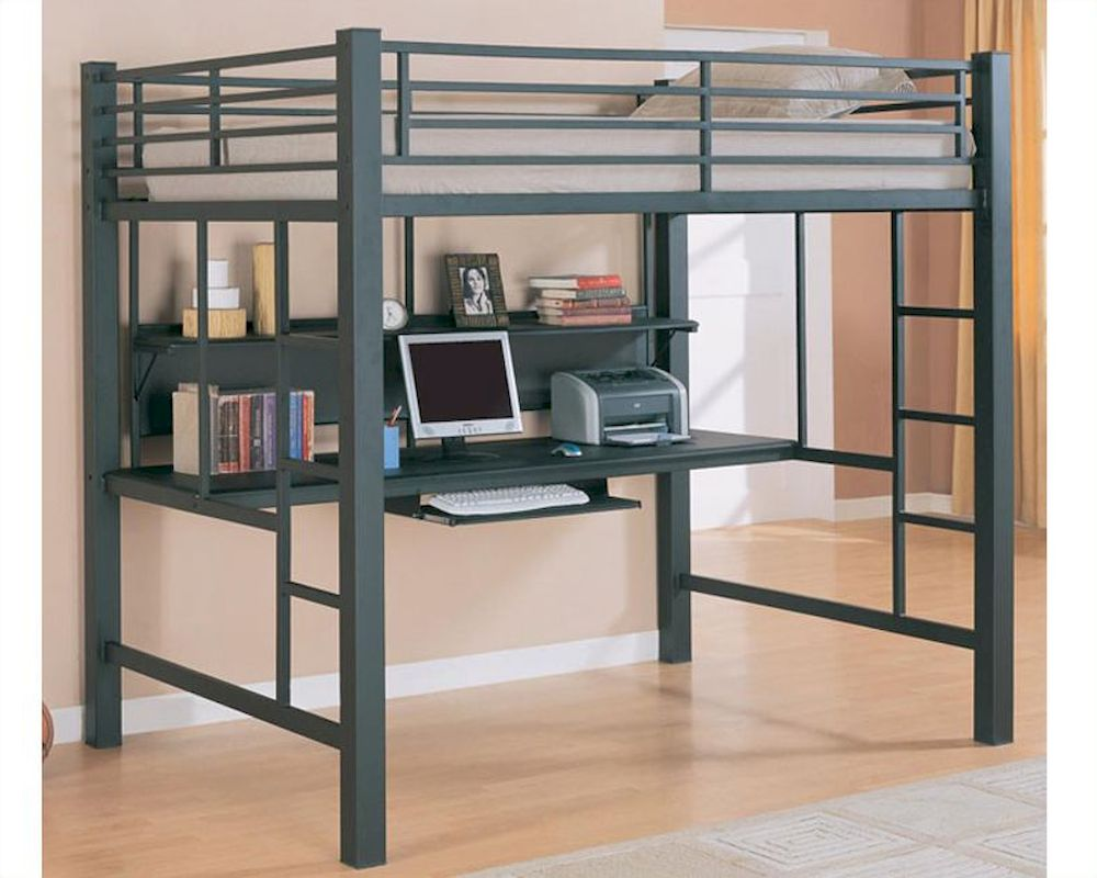 Image of: Loft Beds for Small Rooms Ideas