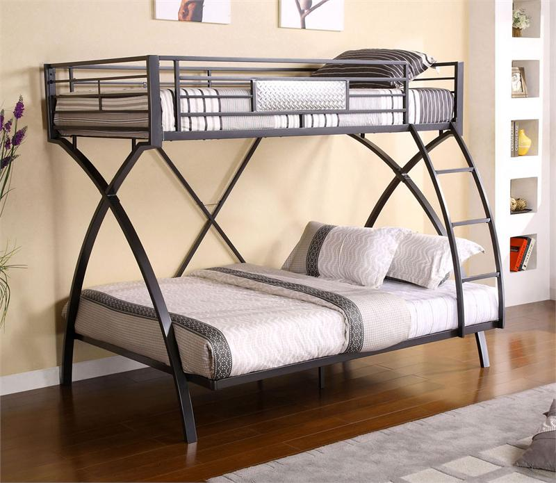 Image of: Metal Bunk Bed Twin Over Full