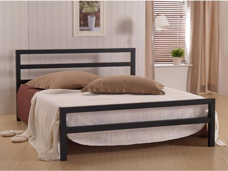 Image of: Metal Queen Bed Frame Modern