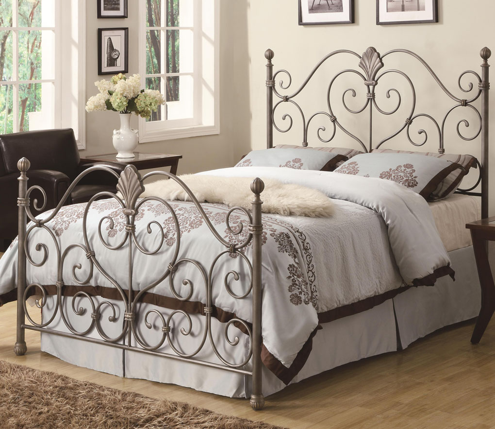 Metal Queen Bed Frame and Headboard