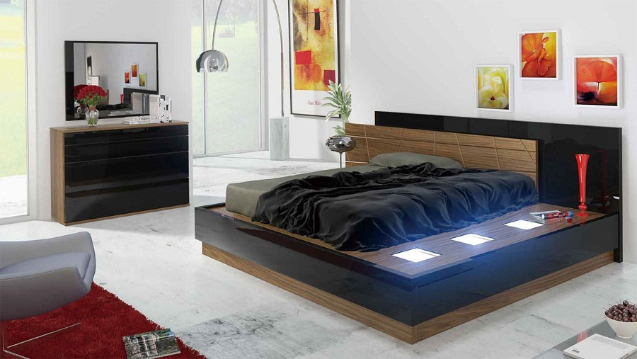 Image of: Modern Pallet Furniture Bed