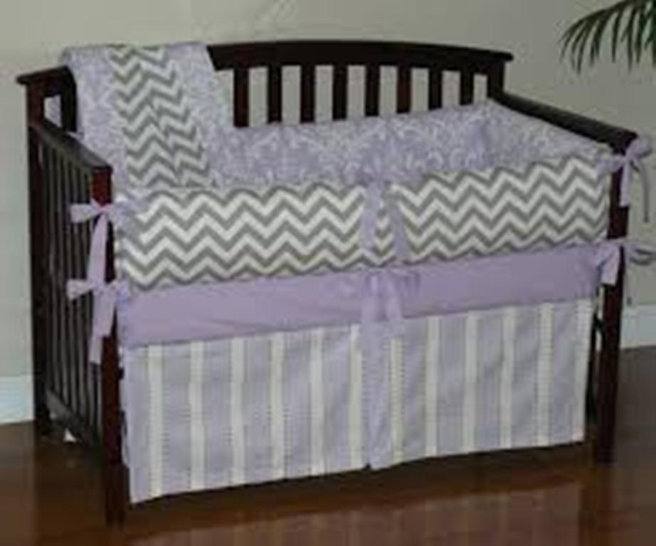 Image of: Navy Blue Chevron Baby Bedding