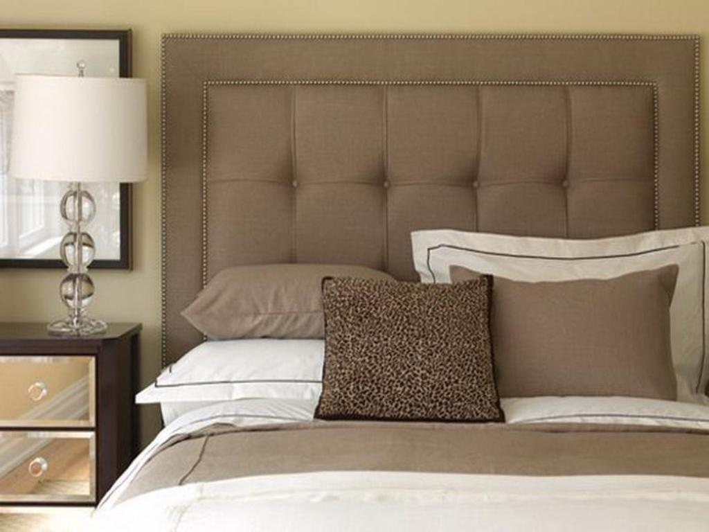 Image of: Padded Headboards for Queen Bed