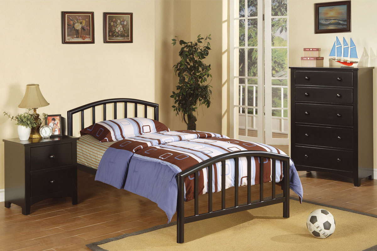 Image of: Queen Bed Frame Black