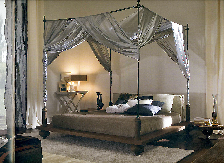Image of: Queen Bed Frame Four Poster