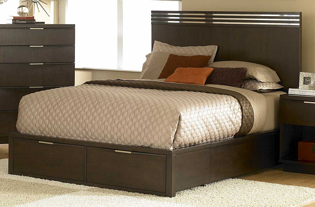 Image of: Queen Platform Bed with Storage Style