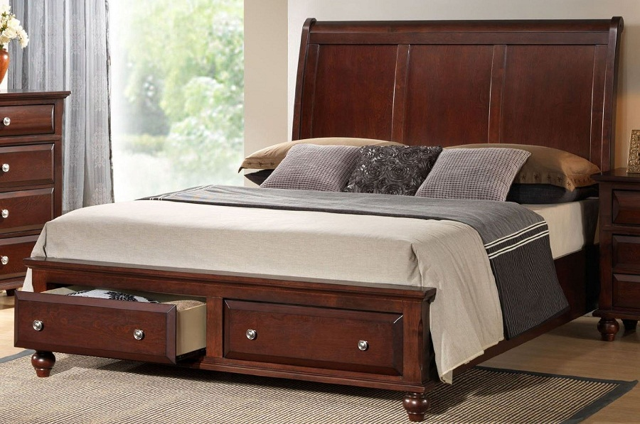 Queen Storage Bed Wooden