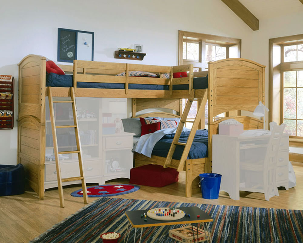 Image of: Triple Loft Beds for Small Rooms