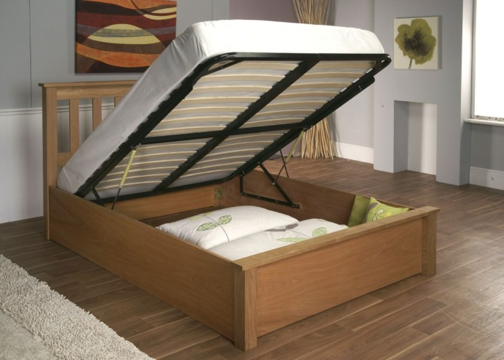 Image of: Twin Bed Frame with Storage Underneath