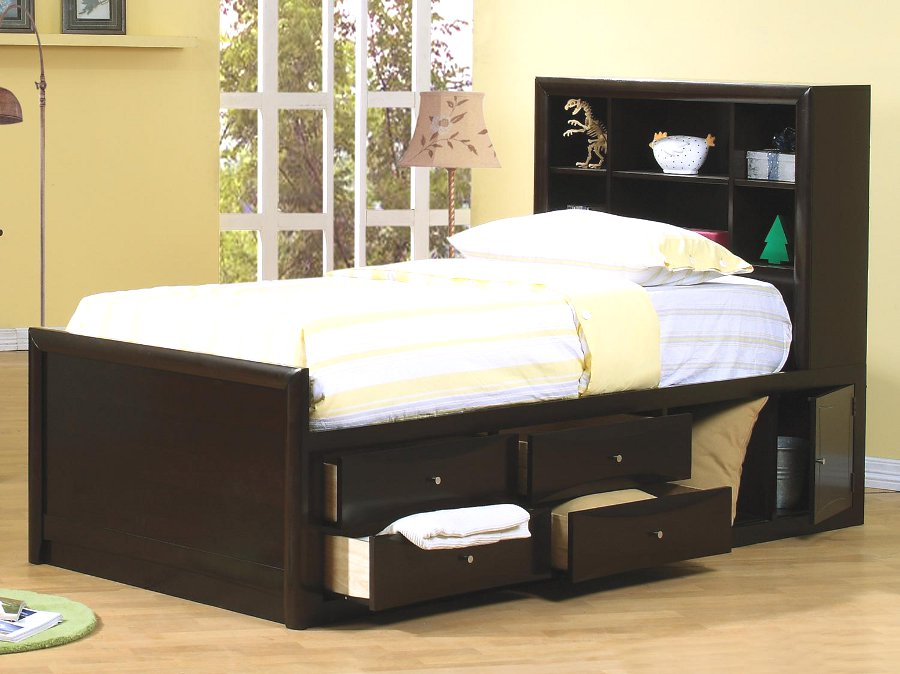 Image of: Twin Beds With Storage Full Size