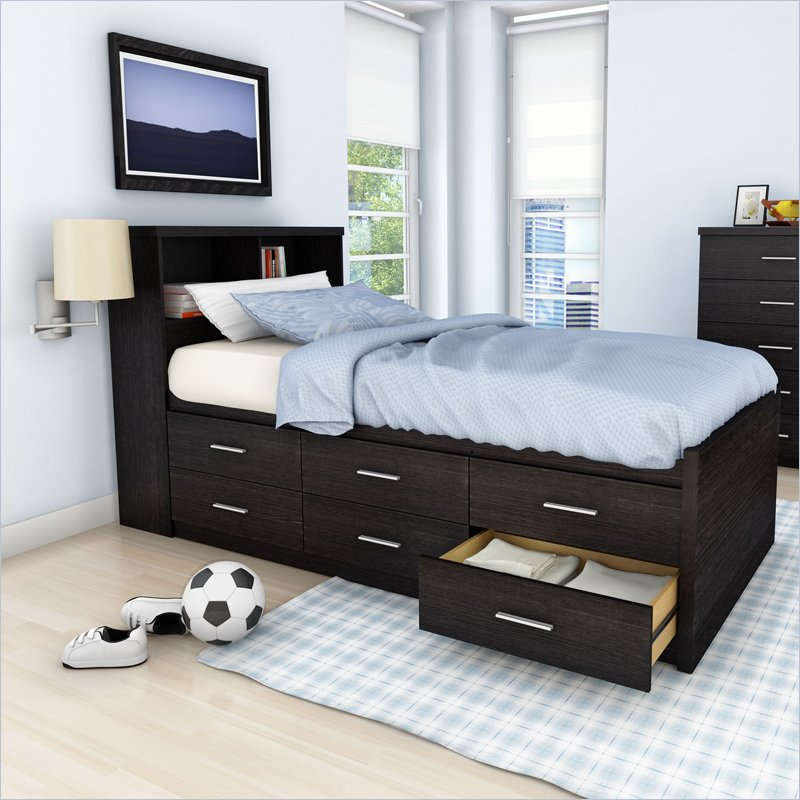 Image of: Twin Beds With Storage Pastel