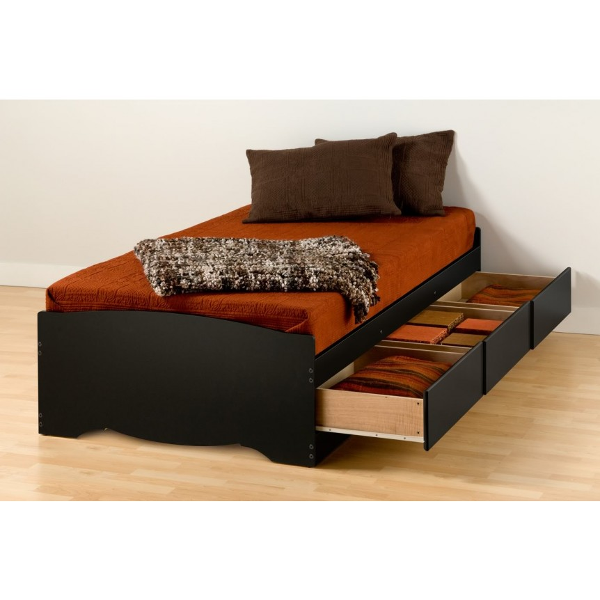 Image of: Twin Beds With Storage XL Platform