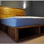 Twin Platform Bed with Storage Large