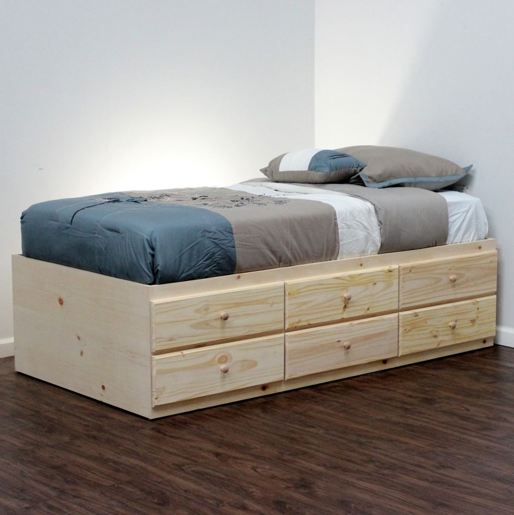 Image of: Twin Platform Bed with Storage Small