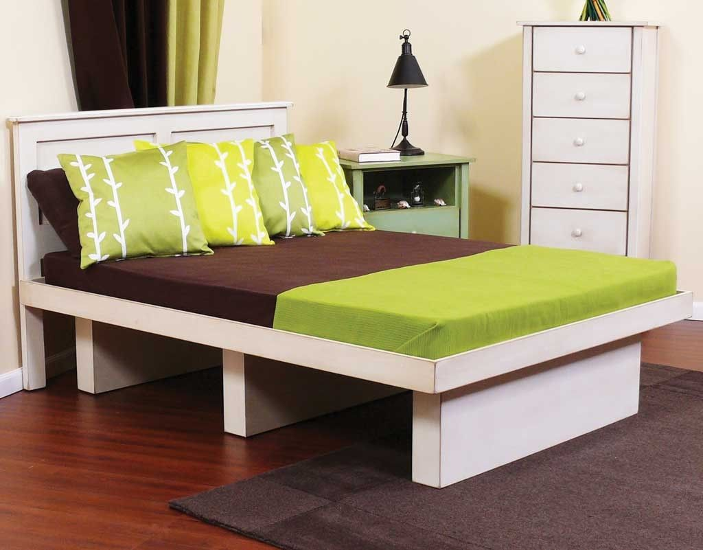 Image of: Twin Platform Bed with Storage Style