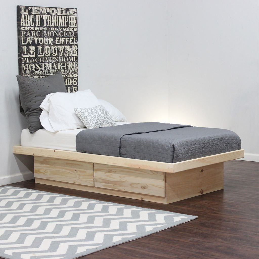 Image of: Twin Platform Bed with Storage for Boy