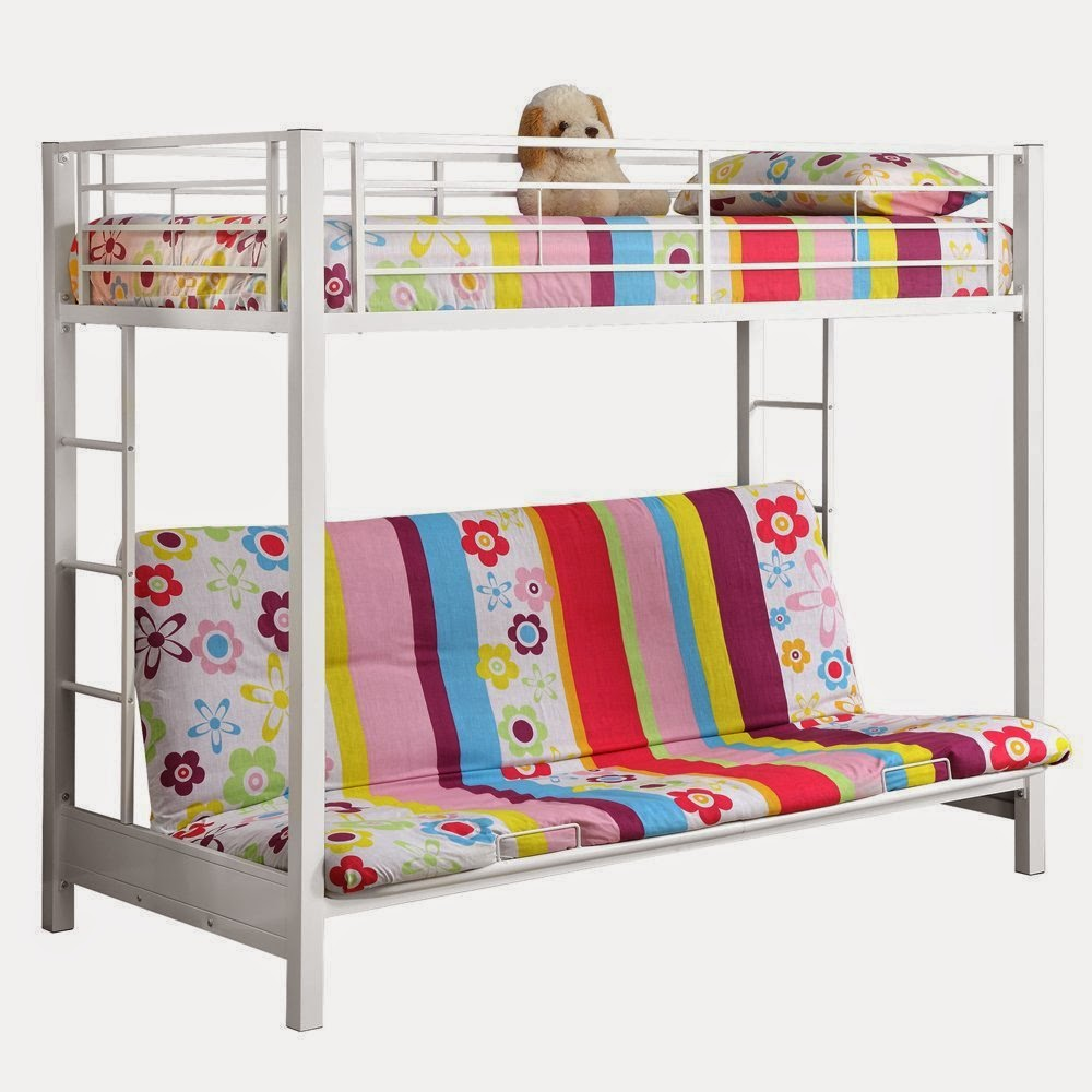 Image of: White Futon Couch Bunk Bed
