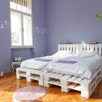 White Pallet Furniture Bed