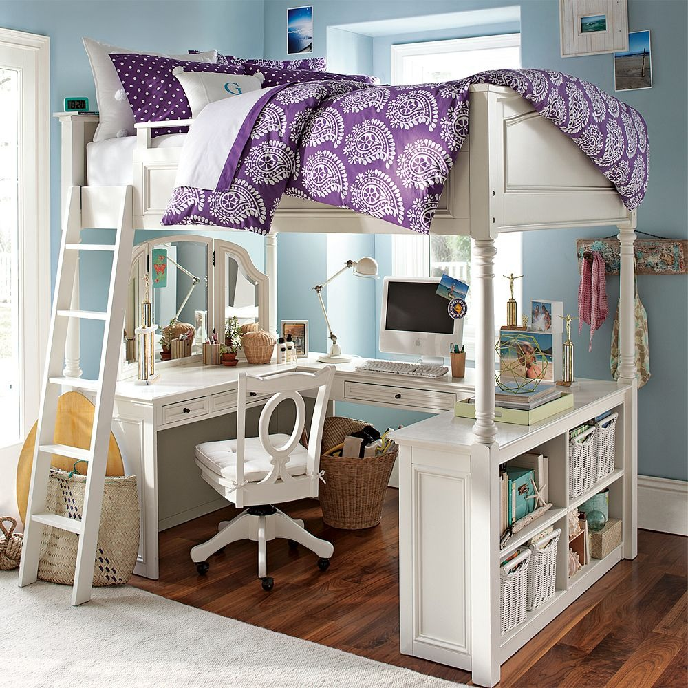Image of: White Queen Size Bunk Beds
