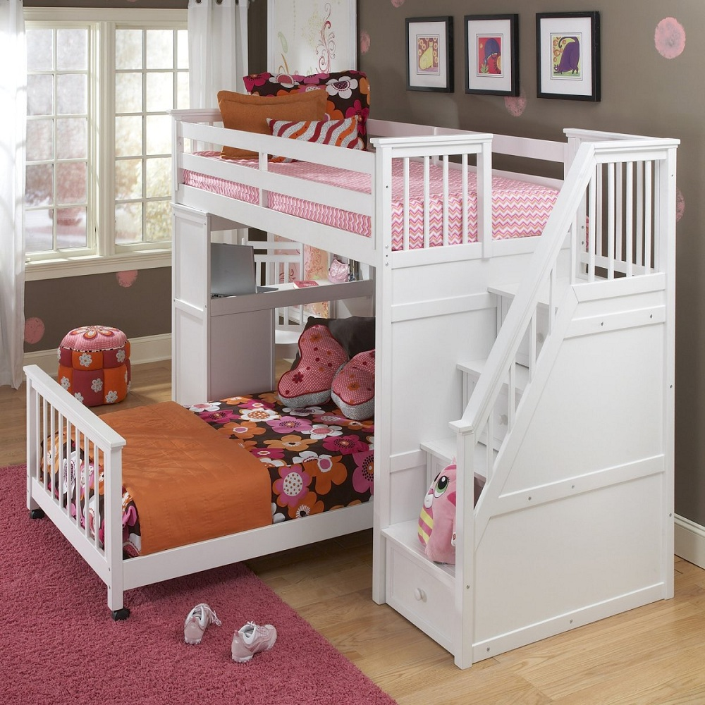 Image of: Wonderful Bunk Bed with Desk and Couch
