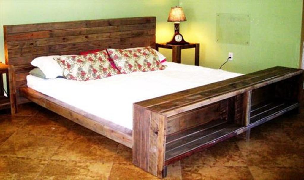 Image of: Wooden Pallet Bed Frame Anti Theft Device