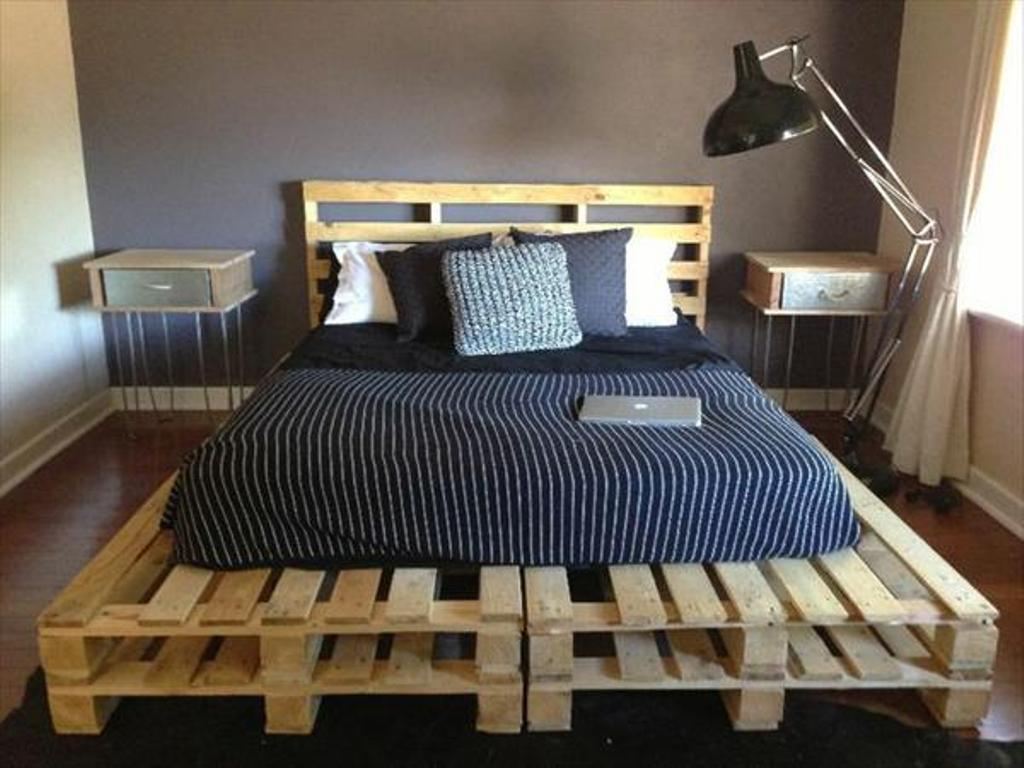 Image of: Wooden Pallet Bed Frame Bed Ideas