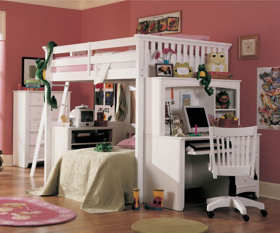 Awesome Full Loft Bed with Desk