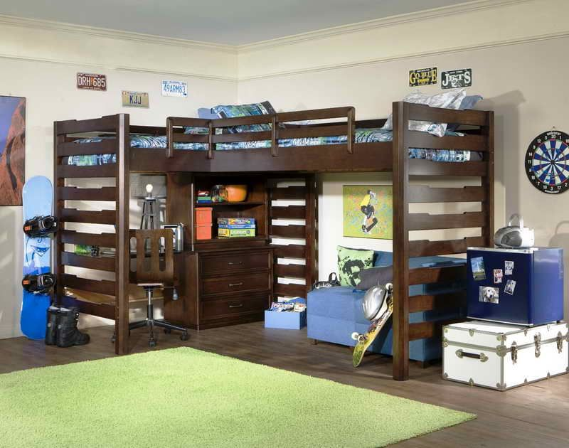 Image of: Awesome Queen Loft Bed Frame
