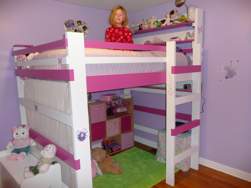 Image of: Beautiful Loft Bed for Kids