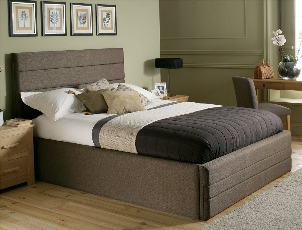 Image of: Beauty King Size Bed Frame with Headboard