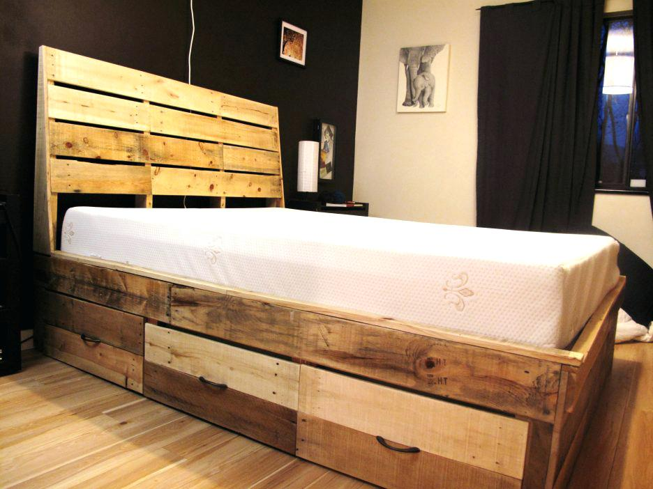 Image of: Bed Frame With Drawers King