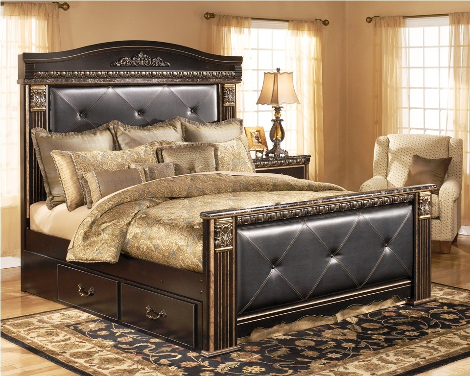 Image of: Best Ashley Furniture King Size Beds