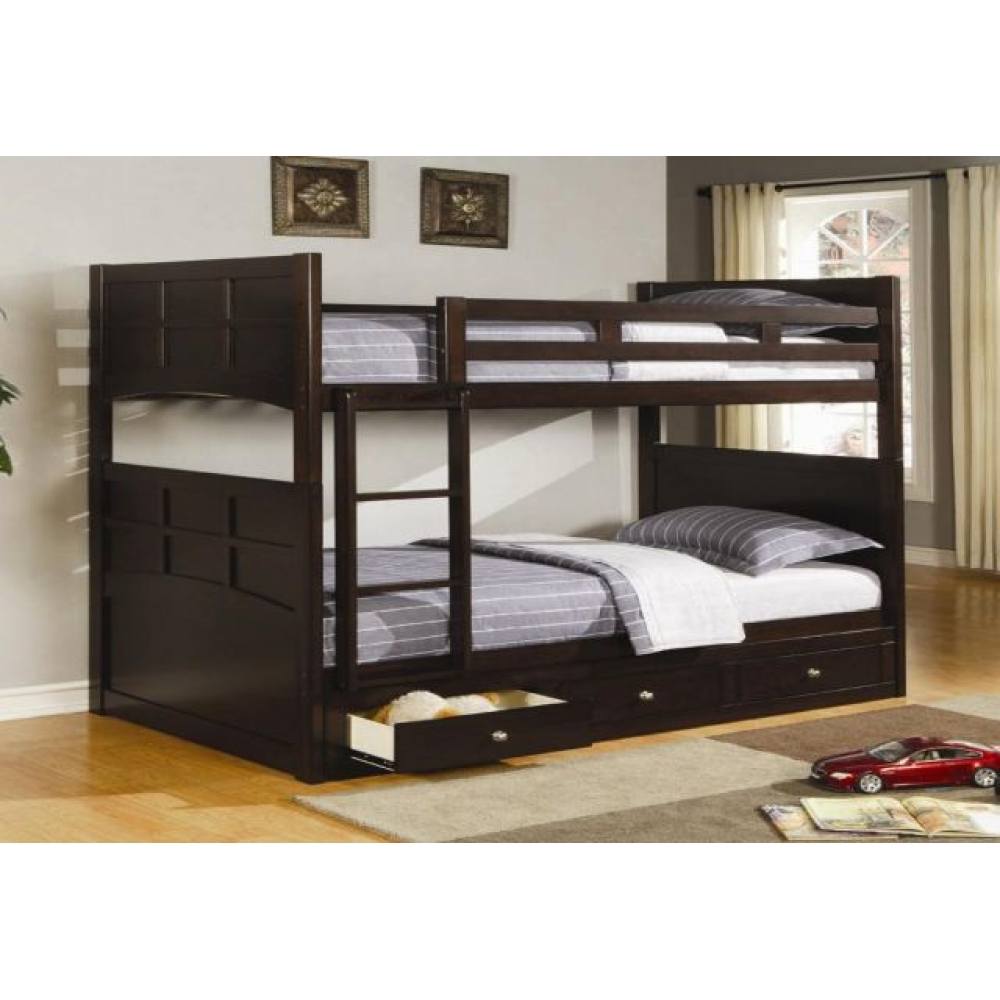 Image of: Black Twin Beds With Drawers