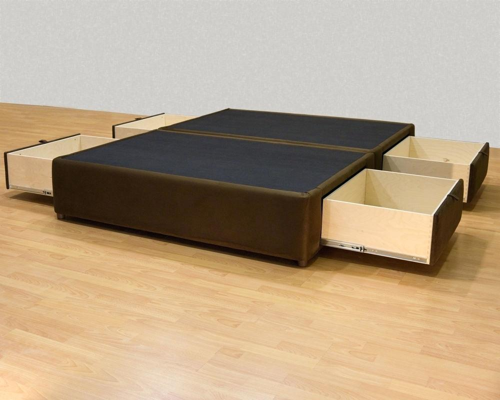Image of: Build A Bed Frame With Drawers