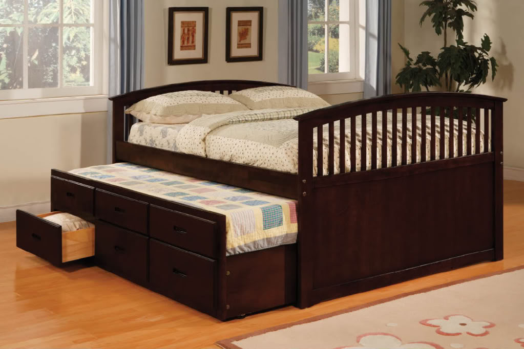 Image of: Build Twin Bed Frame With Drawers