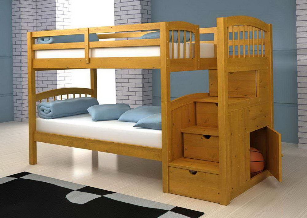 Image of: Bunk Bed Loft Drawers
