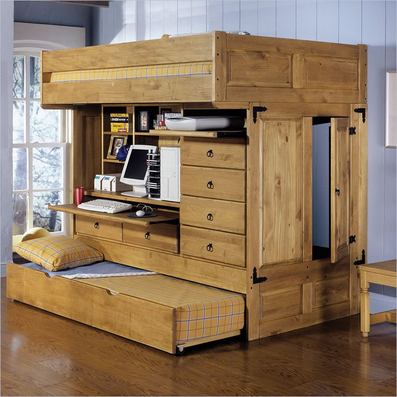Image of: Bunk Bed Loft with Trundle