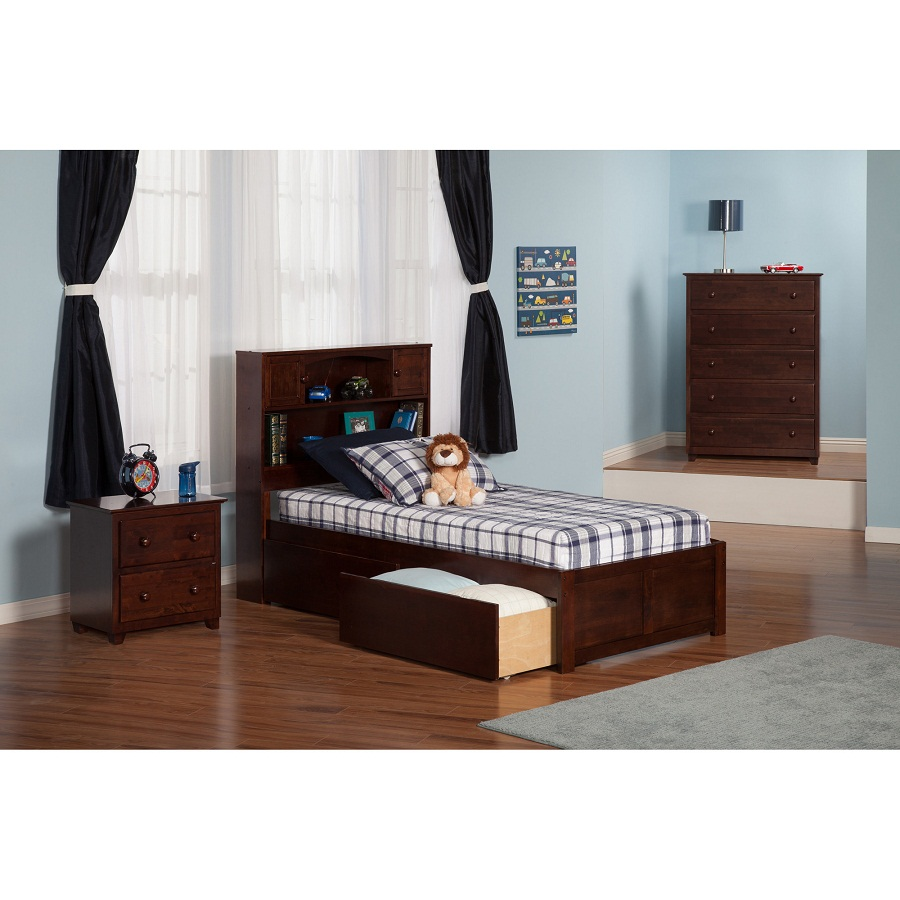 Image of: Cozy Twin XL Platform Bed